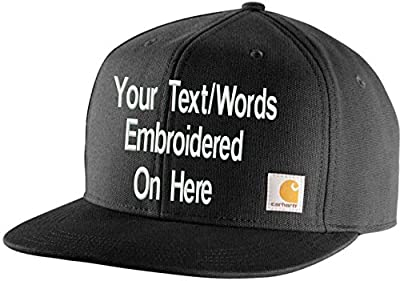 Personalized Carhartt Men's Ashland Cap Your Text Will Be Embroidered (Black)