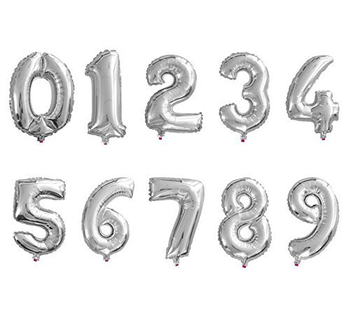 7 inch number balloons - 1