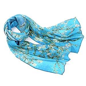 prettystern cuello mujer de seda Bufanda impresión de arte Van Gogh Claude Monet 160 cm | DeHippies.com