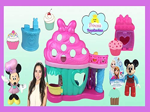 Clip: Disney Minnie Bow-tiful Bake Shop Toy Unboxing with Princess ToysReview