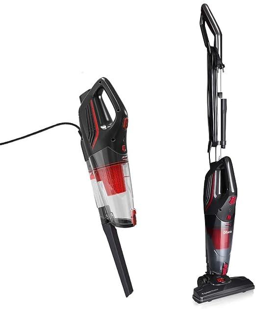 Dibea SC4588 Aspiradora Verticales con cable 2 en 1 sin Bolsa de mano con Cyclone HEPA Filtracion Potente Led-Luz,Negro: Amazon.es: Hogar