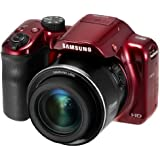 "Samsung WB1100F 16.2MP CCD Smart WiFi & NFC Digital Camera with 35x Optical Zoom, 3.0"" LCD and 720p HD Video (Red) (Certified Refurbished)"