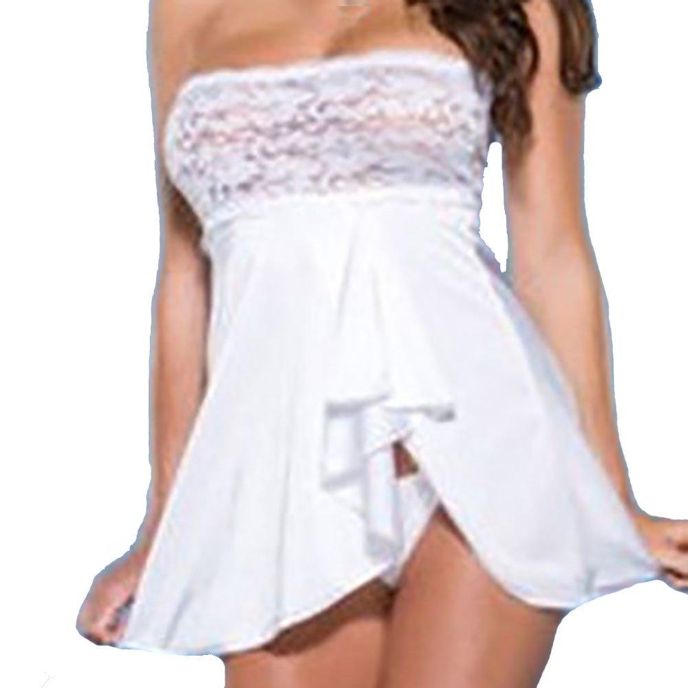 Lingerie Bodysuit for Women Plus Size LuluZanm Sexy Lace Sleepwear Temptation V Neck Underwear Nightdress by LuluZanm Lingerie Underwear (Image #1)