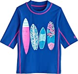 Coolibar UPF 50+ Kids' Surf Shirt - Sun Protective (Medium- Baja Surfboards)
