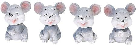 Adorable artesanía Decoración Resina Ratón Adornos de escritorio Diseño creativo de rata para el hog