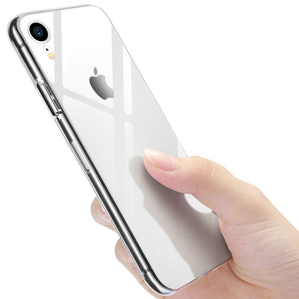 vitutech Custodia iPhone XR, Cover iPhone XR, Ultra Sottile Silicone Gomma iPhone XR Trasparente TPU Case Ultra Anti-Graffio Antiurto Anti Bumper Case per iPhone XR - Trasparente Vitui9TPUTde