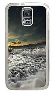 Samsung Galaxy S5 Nature waves 2 PC Custom Samsung Galaxy S5 Case Cover Transparent