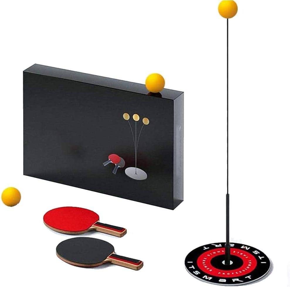 Eje Elástico Suave Ping Pong Herramientas, Robot De Entrenamiento Tenis Mesa, con 2 Paletas De Tenis De Mesa Y 3 Pelotas De Ping Pong, para Jugar En Interiores Al Aire Libre