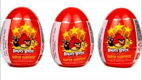 Three New Plastic Angry Birds Surprise Eggs Great Unboxing Fun