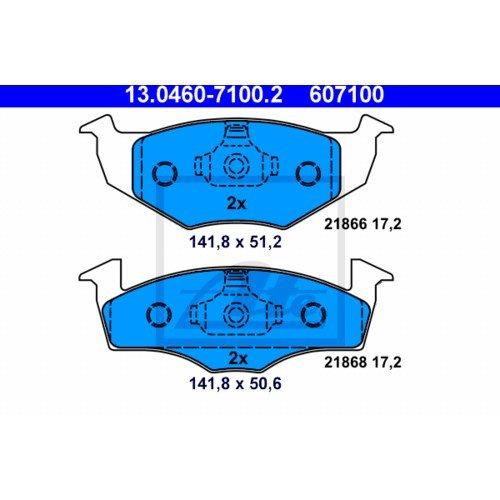 2x ATE BREMSSCHEIBEN /Ø239 mm BREMSBEL/ÄGE SET VORNE SEAT AROSA 6H 1.0-50PS