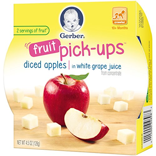 Gerber Graduates Fruit Pick Ups - Diced Apples, 4.5-Ounce (Pack of 8) by Gerber Graduates (Image #5)