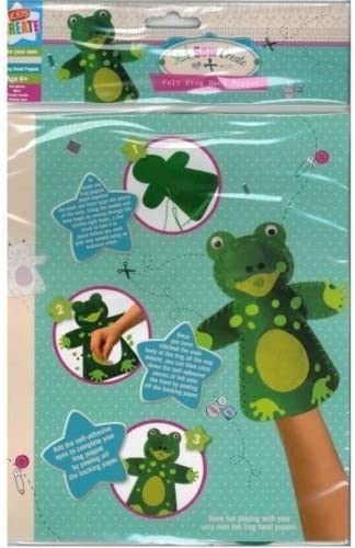 Stick Sew Create Your Own Felt Frog Hand Puppet Set Toy Craft Sewing Kit Gift