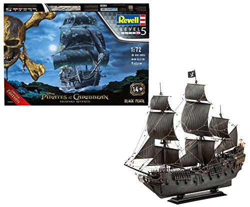 Pirates Of The Caribbean Black Pearl - Revell 05699, Limited Edition, Disney, Pirates of the Caribbean, Black Pearl, 1:72 Scale plastic model