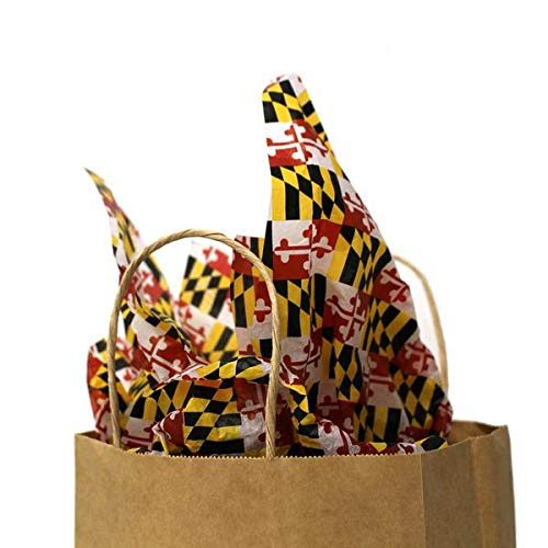 Route One Apparel | Maryland Flag Pattern Gift Wrapping Tissue Paper - 15
