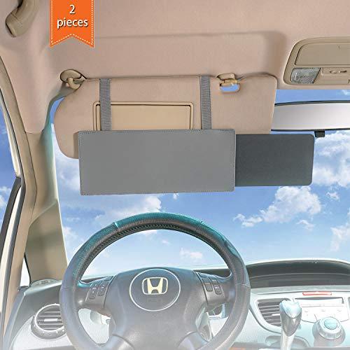 WANPOOL Car Visor Sunshade, Car Visor Anti-Glare Sunshade Extender for Front Seat Driver and Passenger - 2 Pieces (Gray)