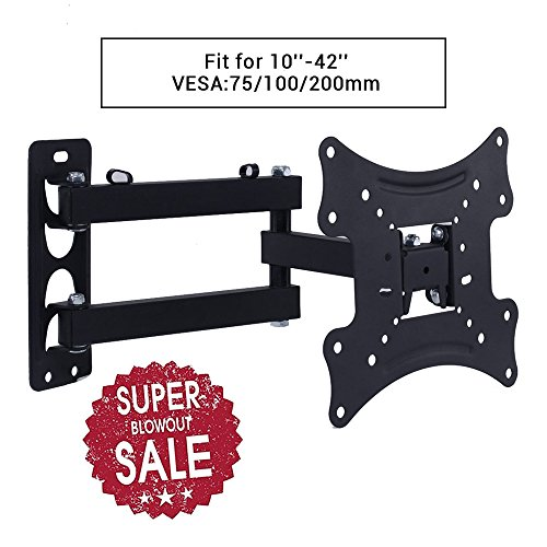"-[ Lumsing TV Mount, TV Wall Bracket Mount, TV bracket with 1.8m HDMI Cable, for 10-42"" LED, L"