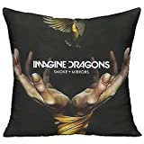 RobertJ.Rivera Unisex Woman Mans Imagine Dragons Smoke And Mirrors Stylish Car Chair Idol Square Decorative Throw Pillow