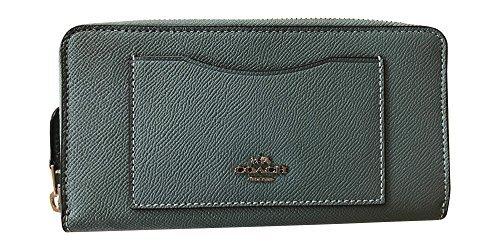 Coach Crossgrain Leather Accordian Zip Wallet, Leaf 2