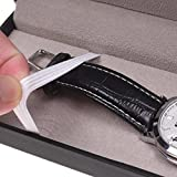 BLUECELL Black PU Leather Rectangle Bracelet Watch