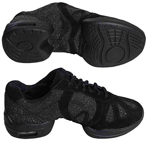Sneaker Sansha Hi-step Dance Luccicante Nero