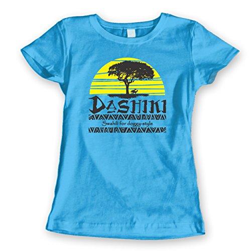 Dashiki Swahili For Doggy Style Womens Shirt Small Aqua