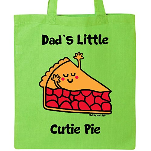 Inktastic - dad's little Cutie Pie Tote Bag Lime Green - Flossy And Jim