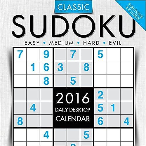 2016 Sudoku Daily Desktop Calendar