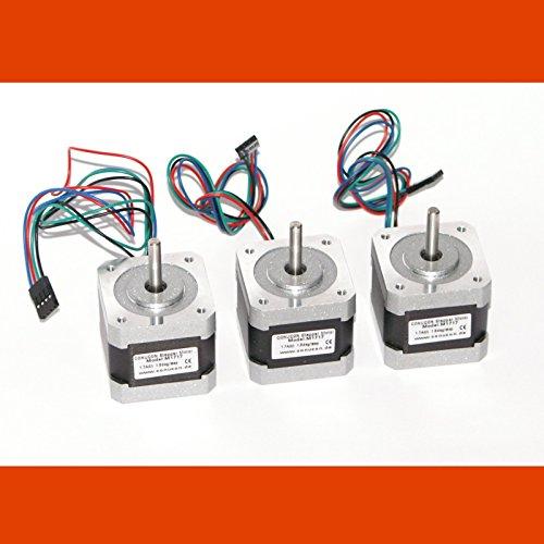 3 x Motuer pas à pas NEMA 17 1.7A Stepper Motor avec un connecteur Dupont imprimante 3D reprap diy grbl
