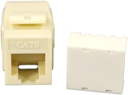 Amazon.com: Cooper Wiring Devices 5547-3EA Cat 3 RJ11 ... on wireless jack, cinderella jack, sound jack,