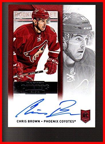2013-14 Panini Contenders #158 Chris Brown AUTOGRAPH RC Phoenix Arizona Coyotes serial Now With Washington Capitals AHL Hershey Bears