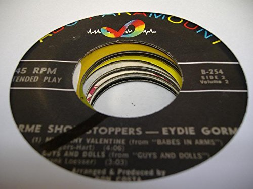GORME SHOWSTOPPERS - EYDIE GORME 45 RPM My Funny Valentine / Guys and Dolls / You Can