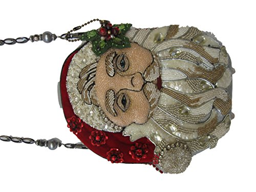 Bag Shoulder Mary Beaded Bejeweled Santa Ho Frances Christmas Handbag Hand Ho Ho Holiday pnTCqw7