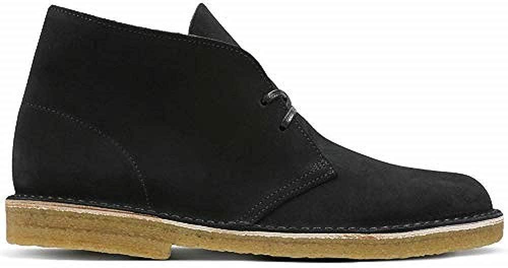 Black Suede Clarks Originals Men's Desert Boot