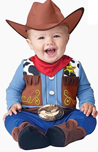 ebdb94ec492e Costume carnevale sceriffo del west bebè travestimento carnevale halloween  cosplay neonato tuta fazzoletto cappello costume bambino