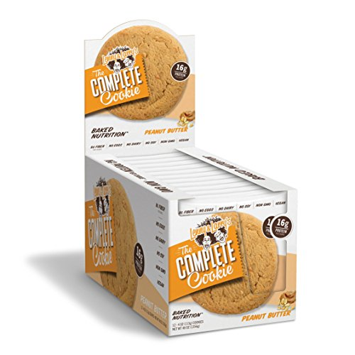 Lenny & Larry's The Complete Cookie, Peanut Butter, Soft Baked, 16g Plant Protein, Vegan, 4-Ounce Cookies (Pack of 12) ()