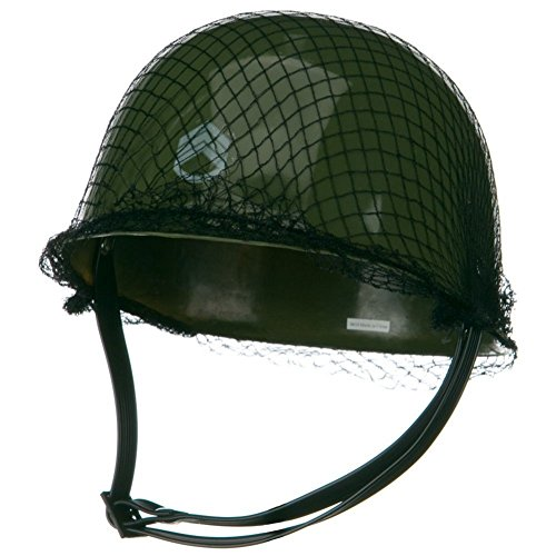 Childrens Green Army Helmet Costume -