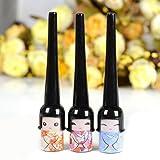 Software : sea-junop 3pcs Kawayi Girl Liquid Eyeliner Brush for Makeup Cosmetic Waterproof Eyeliner