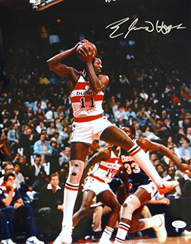 Elvin Hayes Autographed Washington Bullets 16x20 Holding Ball Photo- JSA W (Photo Holding Ball)