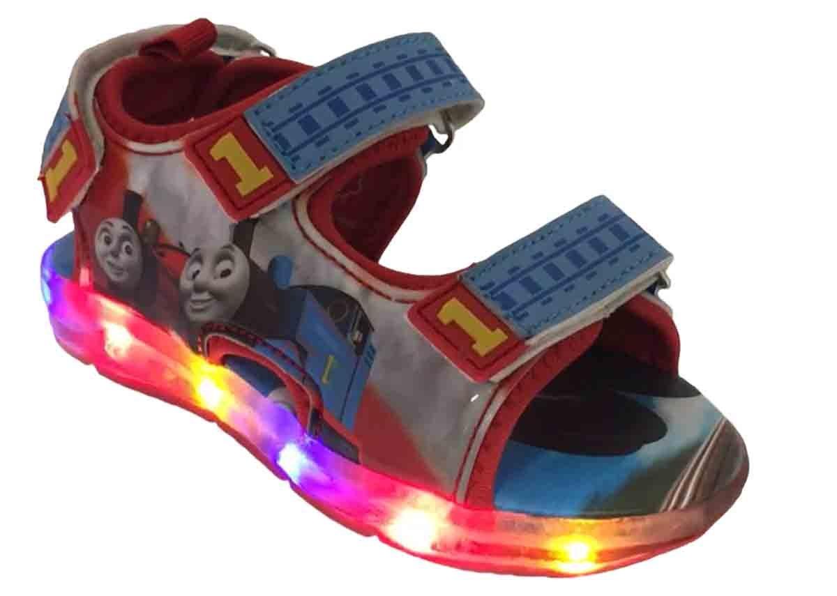 Thomas The Train Light-Up Toddler Boys Sport Sandal (8 M US Toddler)