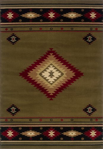 "Oriental Weavers Hudson 087J1 Area Rug, 3'10 x 5'5"""
