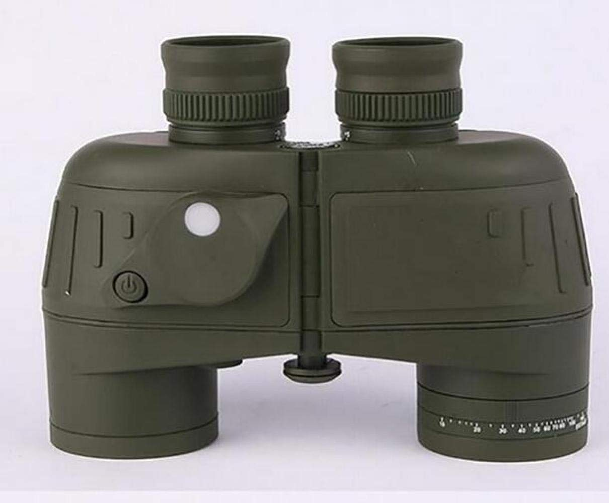 CTO Telescope 7X50 Binoculars Adult and Internal Range Finder Compass Waterproof Army Green Navigation, Boating, Fishing, Water Sports,A,Telescope by CTO (Image #1)