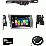 Otto Navi DVD GPS Navigation Multimedia Radio and Dash Kit for Subaru Legacy 2010-2014 Silver with Back up camera and extra