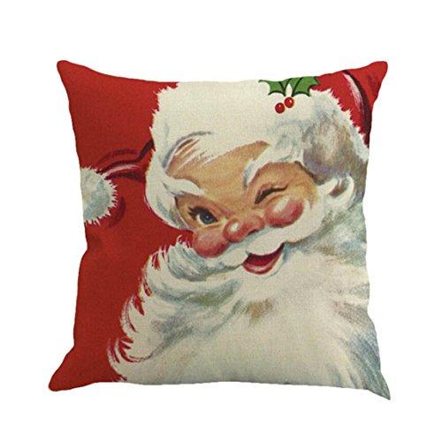 Pillow Case Clearance ♥ Christmas Sofa Car Home Waist Cushion Cover Throw Comfy (C) (Christmas Decorations Clearance Online)