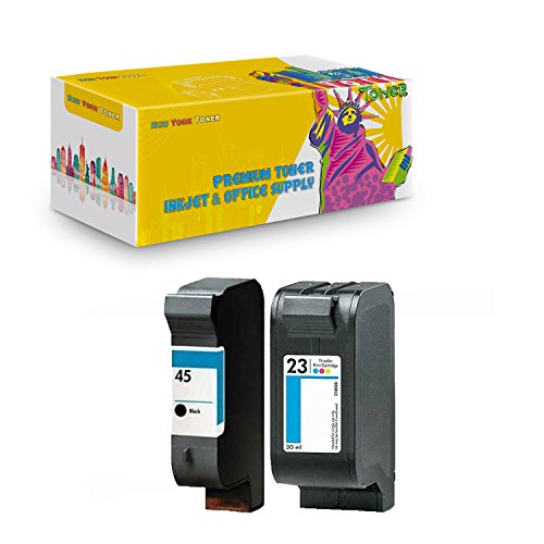 New York TonerTM New Compatible 2 Pack HP C1823 HP 51645 High Yield Inkjet For HP : 500xi . -- 1 Black 1 (1170c Printer)
