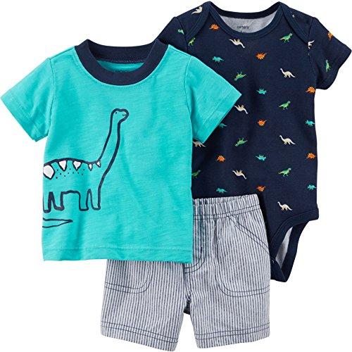 Dino Short - Carter's Baby Boys' 3 Piece Dino Shorts Set 18 Months