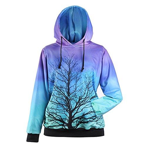 Sweat 2 Femme Galaxy Pull Hoodie Capuche Imprimé Couleur Sweat shirt 3d À Ahatech fTw4txOqZ