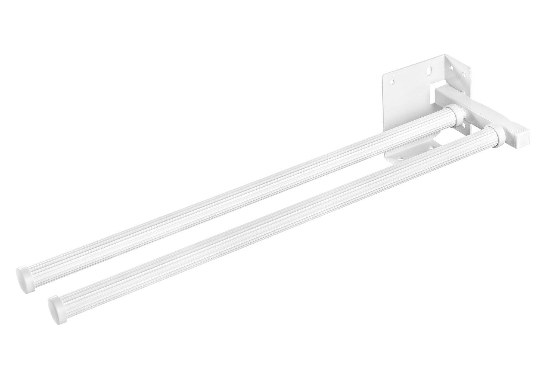 Handtuchstange Bad /& Küche Handtuchhalter ausziehbar weiß - Modell ...