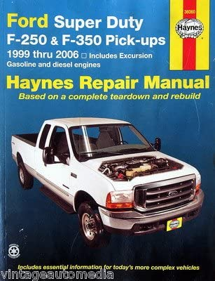 Amazon Com 1999 2006 Haynes Repair Manual Ford Super Duty F 250 350 Pickups 36060 Everything Else
