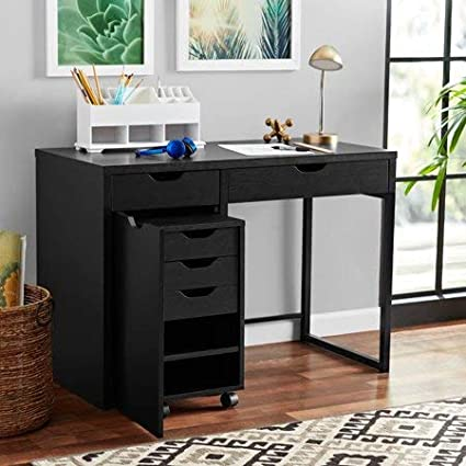 Amazoncom Stylish Work Desk With Metal Frame With Storage For File