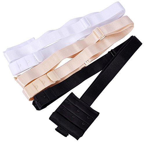 Lady Up 3 Pieces Women's Low Back Bra Converter for Party Backless Dresses (Plus Size with 3 hooks)